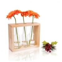 Purupa Dekoratif Üçlü Vazo Doğal Çam