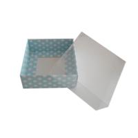 Yıldız Hobi 50 Adet Sabun ve Kokulu Taş Hediyelik Kutu Mavi Puantiyeli 8x8x3 cm