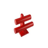 Aydindecor Çiftli Deri Kırmızı Bileklik Saat Standı