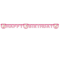 Tahtakale Toptancısı Hello Kitty Happy Birthday Uzar Harf Afiş Duvar Yazısı