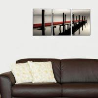 3 Parça İskele Kanvas Tablo 30x63 cm