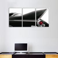 3 Parça Retro Klasik Araba Detay Kanvas Tablo 30x63 cm