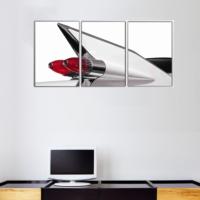 3 Parça Retro Klasik Araba Detay 1 Kanvas Tablo 30x63 cm