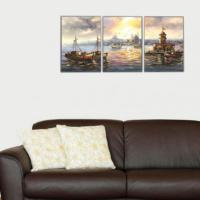 3 Parça Kız Kulesi Manzarası Kanvas Tablo 30x63 cm