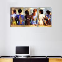 3 Parça Pink Floyd Albüm Kapağı Kanvas Tablo 30x63 cm