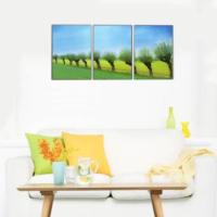 3 Parça Doğa Manzarası Kanvas Tablo 30x63 cm