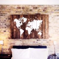 Oldwooddesign Ceviz Dünya Haritası Tablo