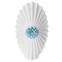 Evdema Inci Kabuğu Mavi Çiçekli