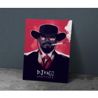 Javvuz Django Zincirsiz - Metal Poster
