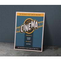 Javvuz City Cinema - Retro Metal Plaka