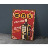 Javvuz Gas - Retro Metal Plaka