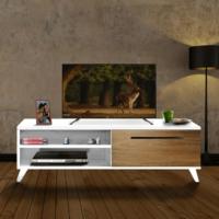Nur Mobilya Polen Tv Sehpası Beyaz-Ceviz