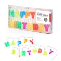 Kikkerland Happy Birthday Lights - Happy Birthday Led Parti Işığı