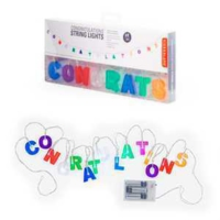 Kikkerland Congratulations String Lights - Congratulations Led Parti Işığı