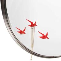 Monkey Business Fly By - Aynadaki Kuşlar - Takı Askısı Kuşlar Beyaz