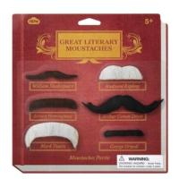Npw Parti Bıyık Seti - Ünlü Edebiyatçılar - Great Literary Moustaches