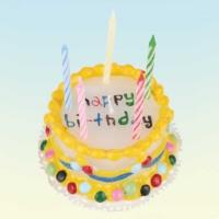 Out Of The Blue Multicoloured Wax Birthday Cake Candle - Acil Durum Doğum Günü Pastası + 5 Mum