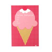 Kart-10 Dondurma Davetiye Kartı