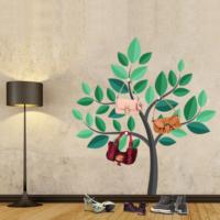 Ejoya Ağaç Askılık Yeşil Büyük Ağaç Duvar Sticker