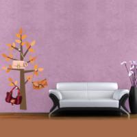 Ejoya Ağaç Askılık Sonbahar Duvar Sticker