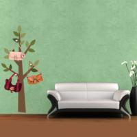Ejoya Ağaç Askılık İlkbahar Duvar Sticker