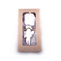 Ejoya Vizon Renkli Havlu Ve Beyaz Sabun Kokulu Taş Hediye Seti