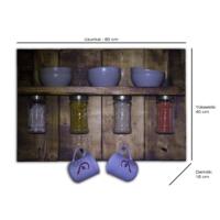 B&M Design Masif Cok Amaçlı Mutfak Rafı