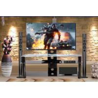 Silvercrest Tv Sehpası Cam Sıyah Resimli Sc-16 120 Cm 3 Katlı 32''-50''