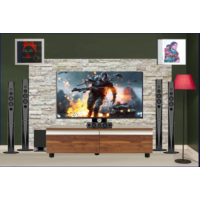 Sılver Crest Sc-080 120Cm Metalık Cevız Ahsap Tv Sehpası