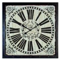 Markakanvas Ahşap Kare Vintage Duvar Saati