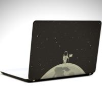 Dekolata Ay ve Astronot Laptop Sticker