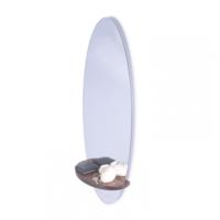 Purupa Oval Aynalı Dresuar Duvar Aynası