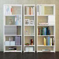 Eyibil Mobilya Güneş 3 ' lü Modern Kaliteli Kitaplık Parlak Beyaz