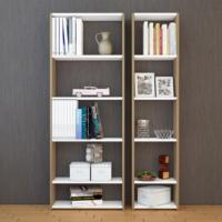 Eyibil Mobilya Bulut 2 ' li Modern Kaliteli Kitaplık Ceviz - Beyaz