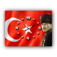 ArtredGallery Atatürk Kanvas Tablo Saat