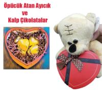 Toptancı Amca Sevgililer Günü Öpücük Atan Ayıcık Sürpriz Kalp Çikolatalar İle