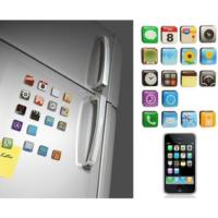 Pratik iPhone Teması Buzdolabı Magnetleri (18 Parça)