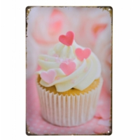 Decotown Beyaz Cup Cake Metal Levha 20*30-6172