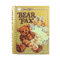 Decotown Bear Fax Kitap Görünümlü Metal Kutu