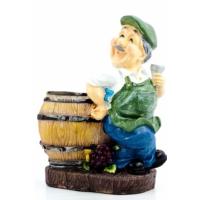 Decotown Biblo Oturan Çiftci Şarap Tutacağı