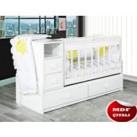 Banana Baby&Kids Swing Lüks Büyüyen Beşik Beyaz