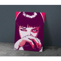 Javvuz Uma Thurman - Illustrasyon - Metal Poster