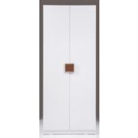 Kenyap Plus 813079 Stella Üç Çekmeceli İki Kapılı Sonsuz Gardırop-Parlak Beyaz