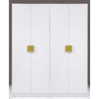 Kenyap Plus 812928 Stella Raflı&Üç Çekmeceli Dört Kapılı Sonsuz Gardırop-Parlak Beyaz