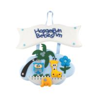 KullanAtMarket Hoşgeldin Bebeğim Mavi Ada Kapı Süsü