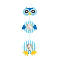 KullanAtMarket Çerçeveli Mavi Baykuş Kapı Süsü