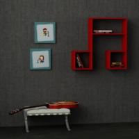 Decortie Lasido Kitaplık Raf - Kırmızı
