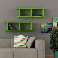 Decortie Ray Kitaplık - Yeşil