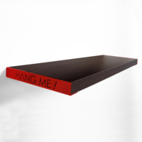Decortie Hang Me Duvar Rafı 60Cmx23Cm - Wenge-Kırmızı