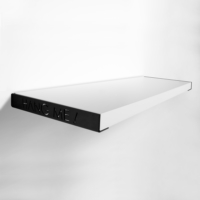 Decortie Hang Me Duvar Rafı 80Cmx23Cm - Beyaz-Siyah